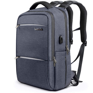 Inateck 15.6 Inch Laptop Backpack with USB Port, CB1001 Gray Blue
