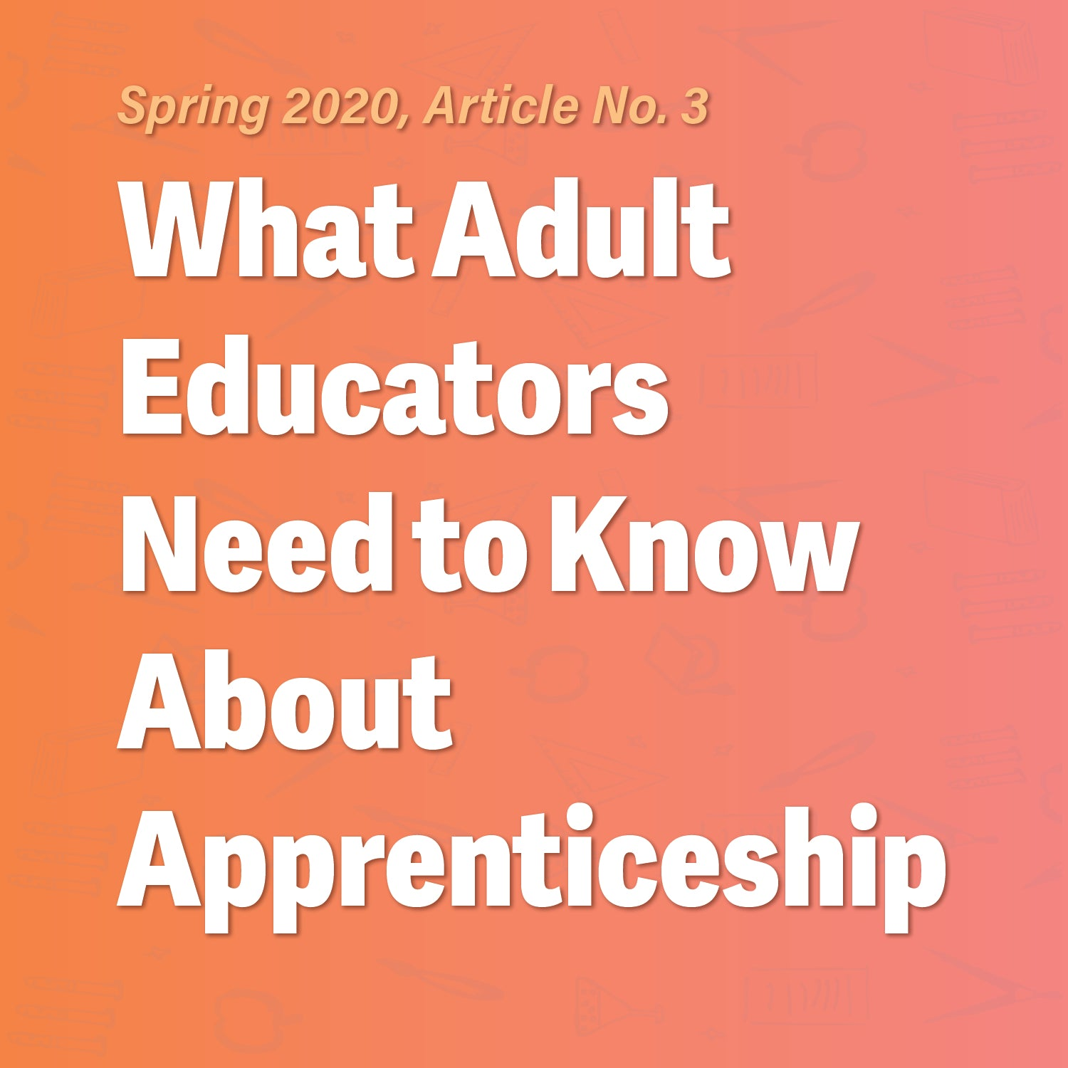 What Adult Educators Need to Know About Apprenticeship