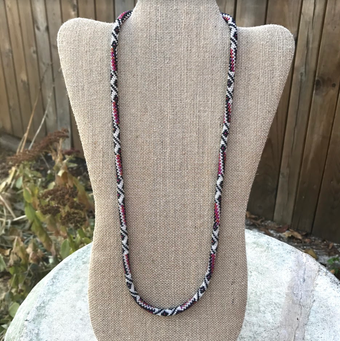 Cinnamon Cranberry Necklace