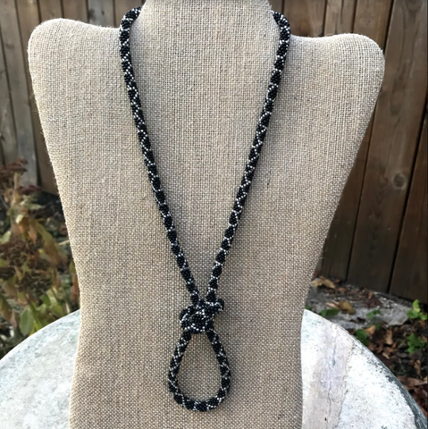 Black Glitter Necklace