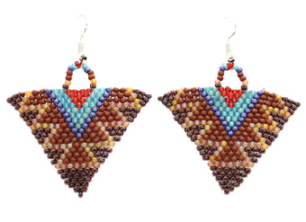 Autumn Cowgirl Triangle Earrings