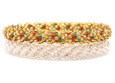 Boudha Bangle in Ice Clear