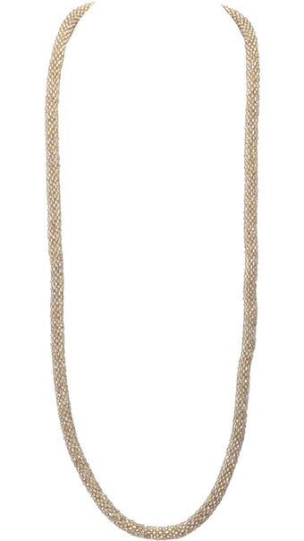 Champagne Gold Solid Necklace
