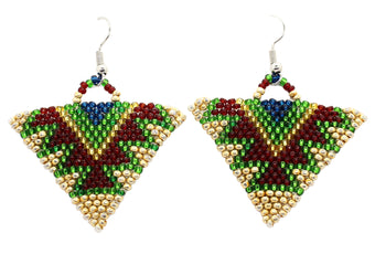 Color Tour Triangle Earrings