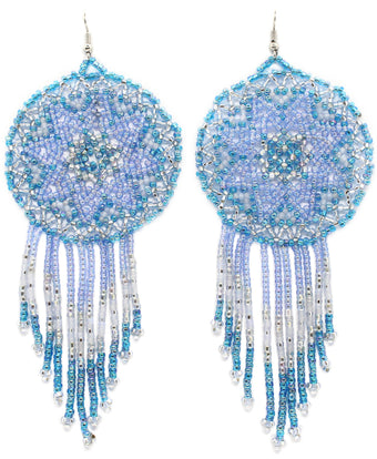 Clear Skies Statement Dreamcatcher Earring