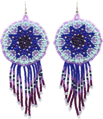 Too Blue Statement Dreamcatcher Earring