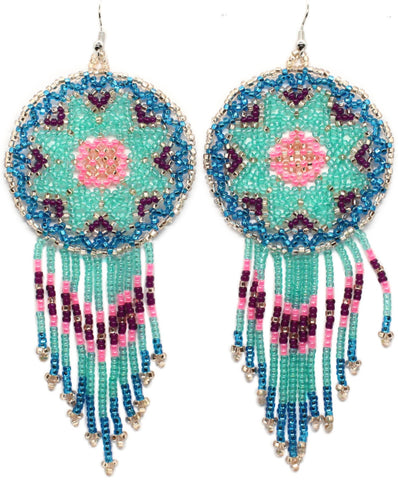 Hot to Trot Statement Dreamcatcher Earrings