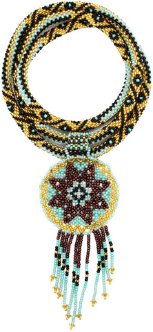 Sphynx Boho-Glam Statement Necklace