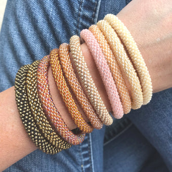 Golden Desert SOLIDS Grab Bag - 10 Assorted Bracelets