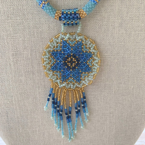 Belle of the Blue Dreamcatcher Necklace