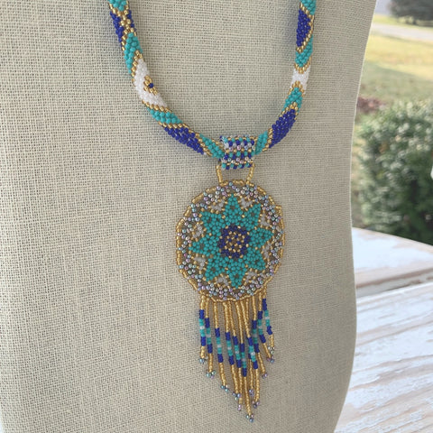 Dreaming of Machu Picchu Dreamcatcher Necklace