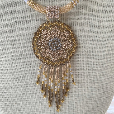 She Calms the Sandstorm Dreamcatcher Necklace