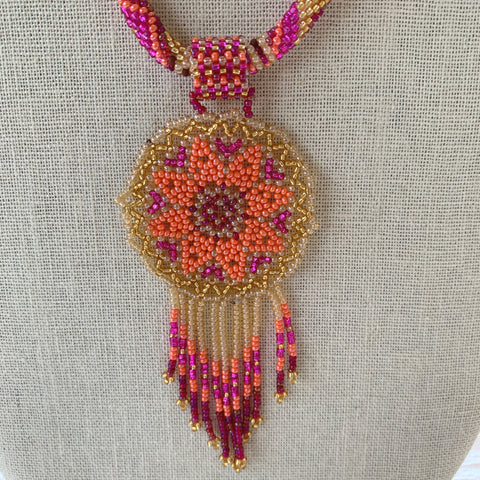 Firebird Dreamcatcher Necklace