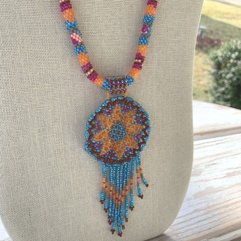 Firefly Dreamcatcher Necklace