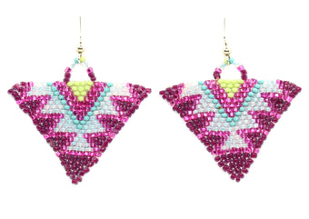 Pink Parfait Triangle Earring