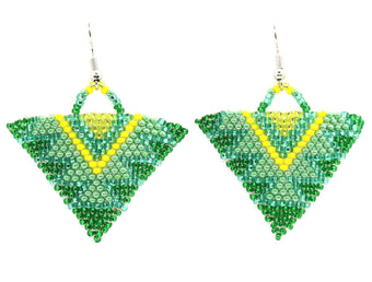Lime Squeeze Triangle Earring