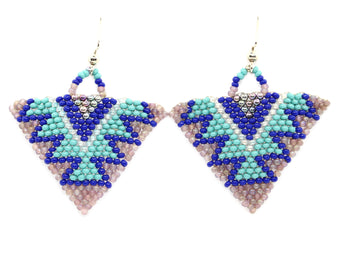 Shifting Moods Triangle Earring