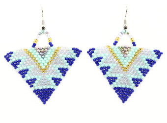 Water Nymph Triangle Earrings