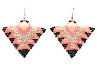 Star of the Dance Floor Triangle Earrings