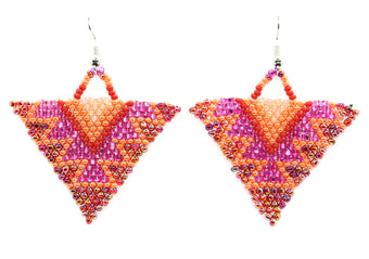 Spice and Flame Triangle Earring