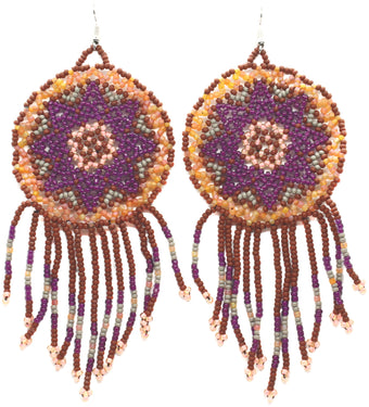 Conscious Cowgirl Statement Dreamcatcher Earrings