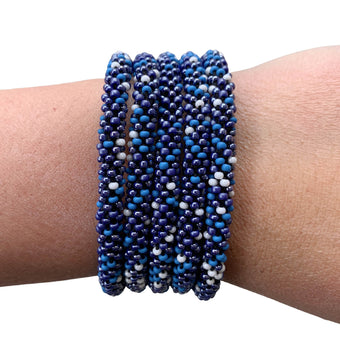 "Indigo Denim ""Slender Stacker"" Bracelet"
