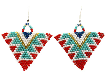 Living in Flip Flops Triangle Earrings