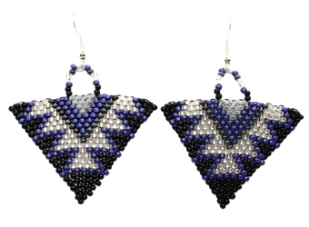 Navy Life Triangle Earrings