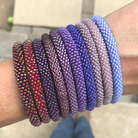 Passionate Purples SOLIDS Grab Bag Mini - 6 Assorted Bracelets