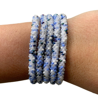 "Stonewashed Denim ""Slender Stacker"" Bracelet"