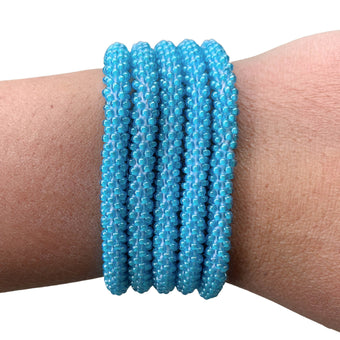 "Surfing the Waves ""Slender Stacker"" Bracelet"