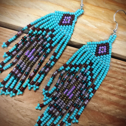 Edge of Teal Earrings