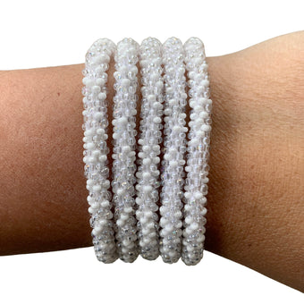 "White Denim ""Slender Stacker"" Bracelet"