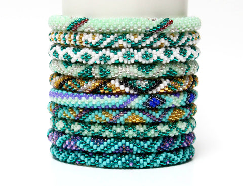 Roll On Bracelet Grab Bag - 5 Assorted Beachside Blues!