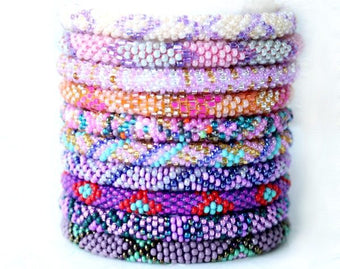 Rolling Bracelet Grab Bag - Pinks and Purples!