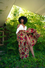 Load image into Gallery viewer, The Hibiscus Floral Wrap Maxi Skirt