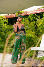 Load image into Gallery viewer, The Chistina Wide leg Pant 'Dashiki Green'