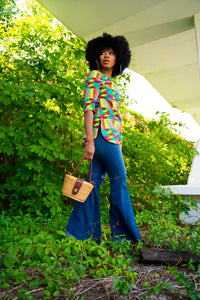 The Olivia Side Split Tunic 'tropical kente'