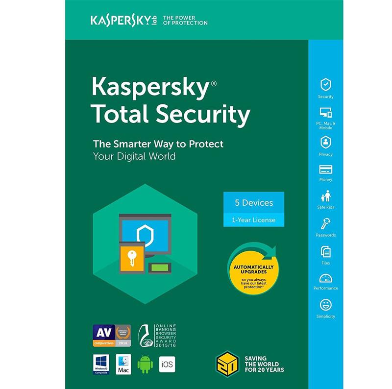 KASPERSKY TOTAL SECURITY 2020 – 1-YEAR SUBSCRITPION / 5-DEVICE