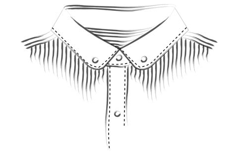 Victorian Rounded Button Down Collar