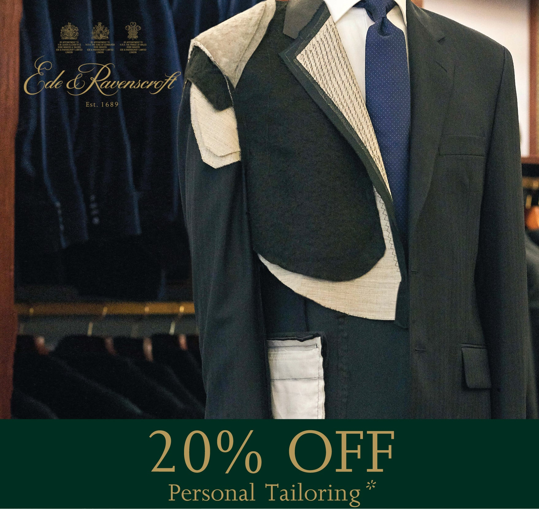 Personal Tailoring Offer: 20% off until November 30th 2019 | Links to Personal Tailoring Information