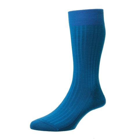 Laburnum Teal Wool Socks