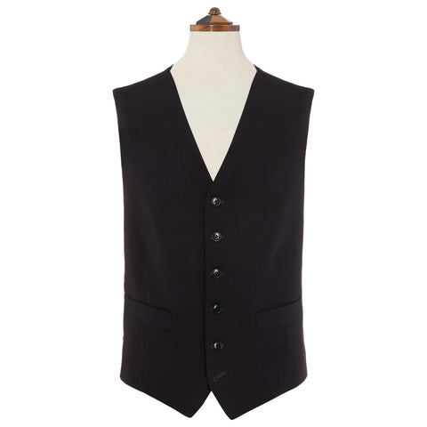 Black Herringbone Formal Waistcoat