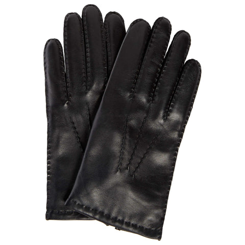 Black Hairsheep Leather Cashmere Lined Glove