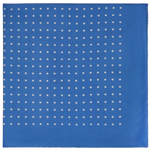 Blue Silk spot pocket square
