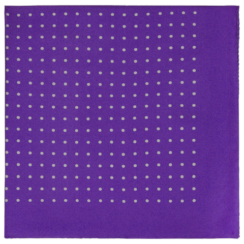 Purple Silk Spot Pocket Square