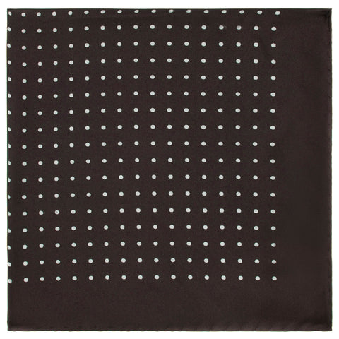 Black Silk spot pocket square