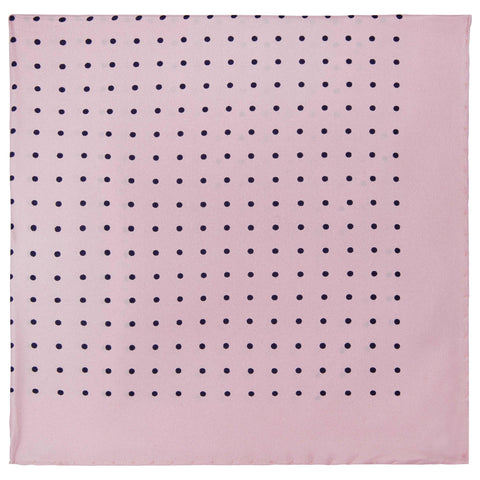 Pink Silk Spot Pocket Square
