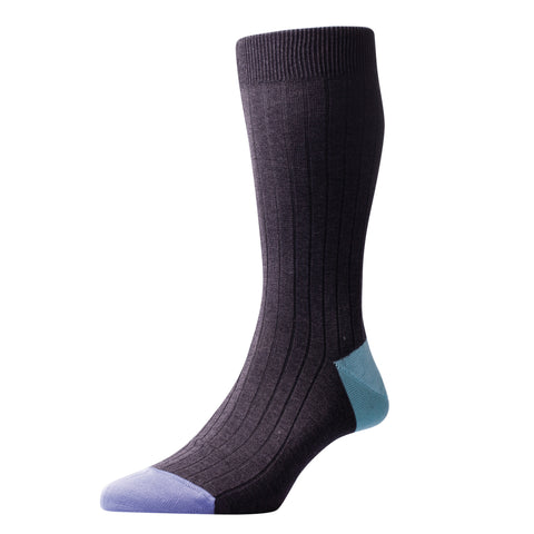 Portobello Charcoal Cotton Socks