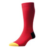 Red Portobello Cotton Socks